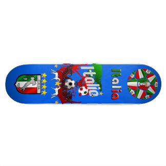 Azzurri blue, Italia panel ball Calcio Skateboard