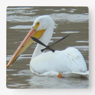 B0015 White Pelican Clock