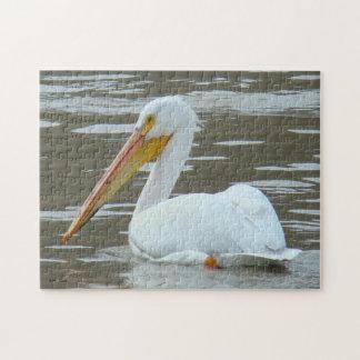 B0015 White Pelican Jigsaw Puzzle