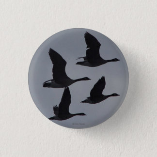 B0046 Canadian Geese in Flight 3 Cm Round Badge