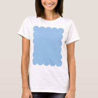 B01 Blue Color Scalloped Edge T-Shirt