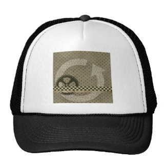 B02 NEUTRAL SCRAPBOOKING POLKADOTS DOTS ARROWS CIR HATS
