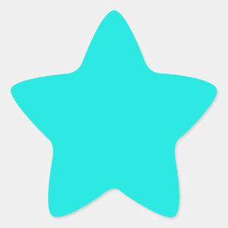 B09 Energetic Aqua Blue Turquoise Star Sticker