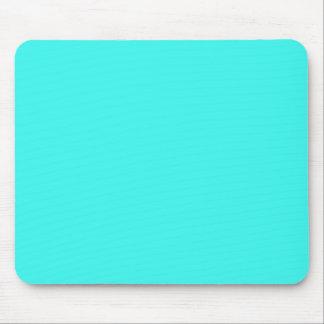 B14 Enthusiastic Aqua Blue Turquoise Color Mouse Pad