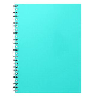 B14 Enthusiastic Aqua Blue Turquoise Color Notebooks