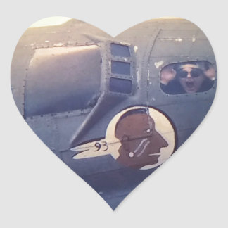 B17 Bomber Suzy Q Heart Sticker