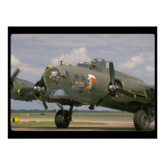 B17 Closeup, Front Left_WWII Planes Poster