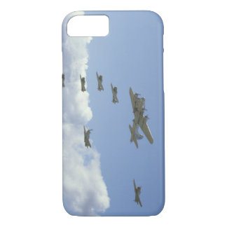 B17, Mustang, 5 T6's, In Formation_WWII Planes iPhone 7 Case