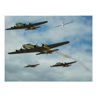 B17 Under Attack Poster