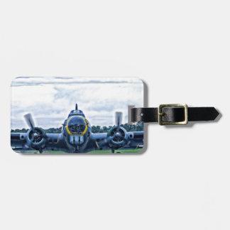 B17 Vintage Airplane Aircraft Flying Luggage Tag