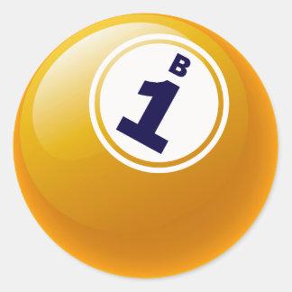 B1 BINGO BALL CLASSIC ROUND STICKER