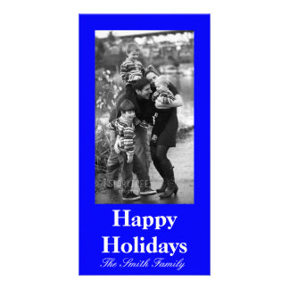 B21 Bouncy Bright Blue Color Customizable Card