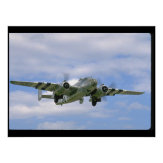 B25, Front Right View_WWII Planes Poster