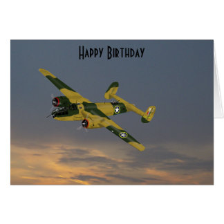 B25 Mitchell Bomber 1942 Card