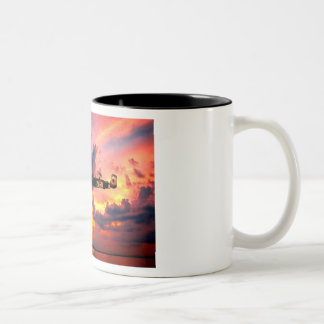 B25 Mitchell Yellow Rose Two-Tone Coffee Mug