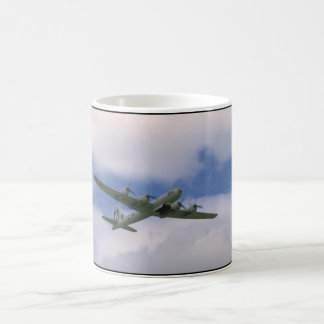 B29, Blue Sky And Clouds_WWII Planes Coffee Mug