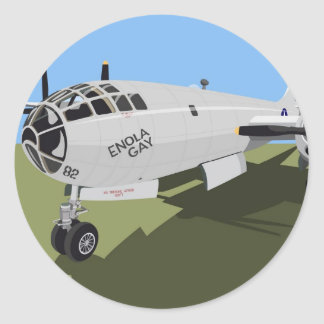 B29 Superfortress Bomber Classic Round Sticker