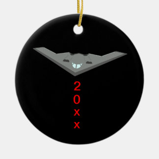 B2 Stealth Bomber Silent Night Ceramic Ornament