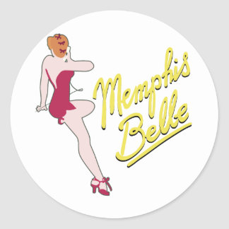 B-17 Flying Fortress Memphis Belle Round Sticker