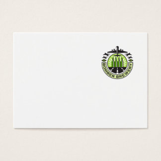 B-17 Heavy Bomber Beer Bottle Brewery Retro Business Card