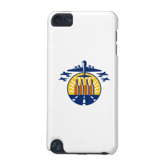 B-17 Heavy Bomber Beer Bottle Circle Retro iPod Touch 5G Cover