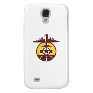 B-17 Heavy Bomber Star Runway Circle Retro Galaxy S4 Covers
