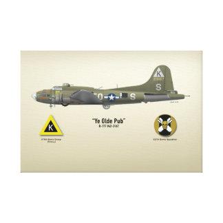 """B-17 """"Ye Olde Pub"""" Canvas Print"""