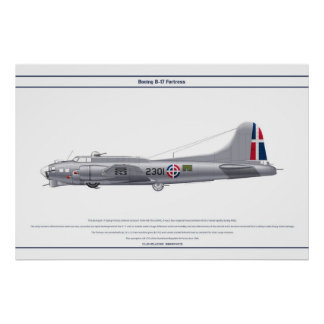 B-17G Dominican Republic 1 Poster