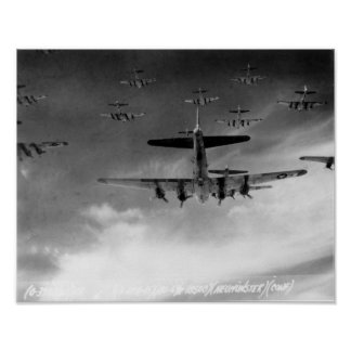 B-17s in Formation Over Germany Poster