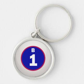 B 1 Bingo Ball Key Chains