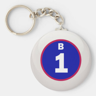 B 1 Bingo Ball Keychains