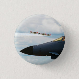 B-1 Bomber and WWII Fighters 3 Cm Round Badge