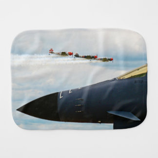 B-1 Bomber and WWII Fighters Burp Cloth