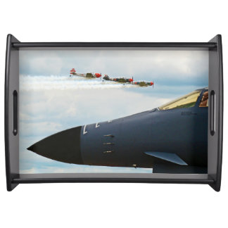B-1 Bomber and WWII Fighters Serving Tray