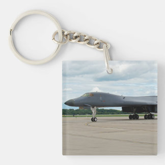 B-1B Lancer Bomber on Ground Key Ring