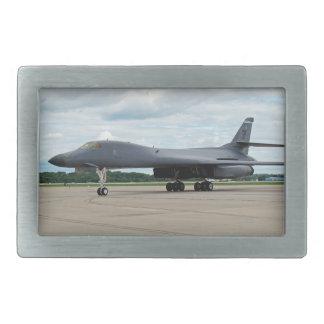 B-1B Lancer Bomber on Ground Rectangular Belt Buckles