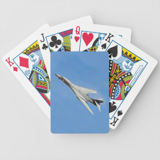 B-1B Lancer Bomber Wings Swept Bicycle Playing Cards
