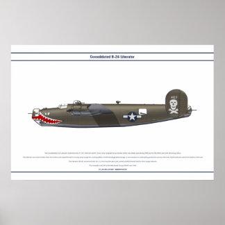 B-24J USA 90BG 1 POSTER