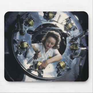 B-25 Bomber Engine Lady, 1942 Mouse Pad