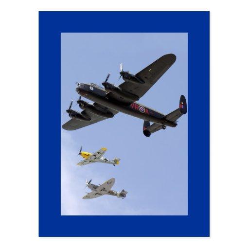 B-25 Liberator P-51 Mustang Post Card