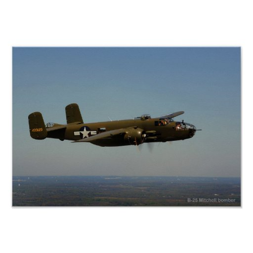 B-25 Mitchell bomber 2 poster