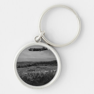 B-25 Mitchell Silver-Colored Round Key Ring