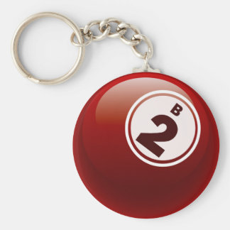 B 2 BINGO BALL BASIC ROUND BUTTON KEY RING