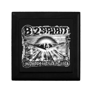 B-2 Spirit Wooden Jewelry Keepsake Box