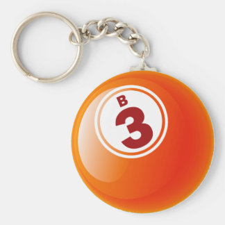 B 3 BINGO BALL BASIC ROUND BUTTON KEY RING