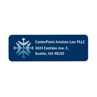 B-52 Aircraft Snoflake Return Address Label