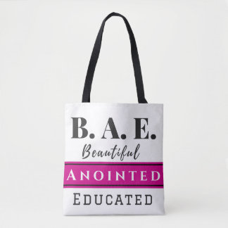 B.A.E. Tote Bag With Black Straps (Christian)