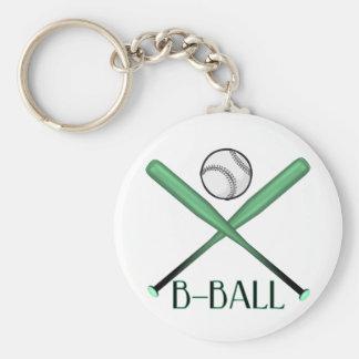 B-BALL BASIC ROUND BUTTON KEY RING