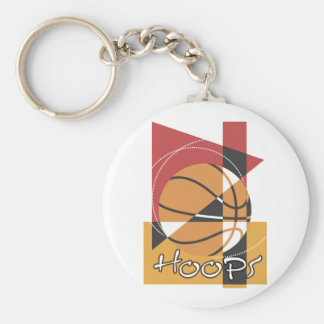 B-Ball Hoops T-shirts and Gifts Basic Round Button Key Ring
