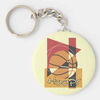 B-Ball Hoops T-shirts and Gifts Key Chain